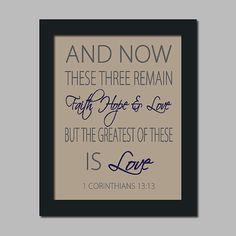 Scripture Wedding Bible Verse Faith Hope Love by LovelyFaceDesigns, $16.00