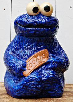 Vintage 1970s Muppets Cookie Monster Cookie Jar by RootedInVintage, $62.00