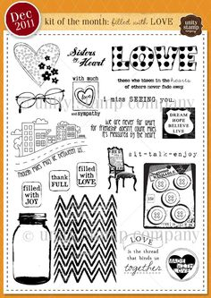 Unity Stamp Company December 2011 Kit of the Month.