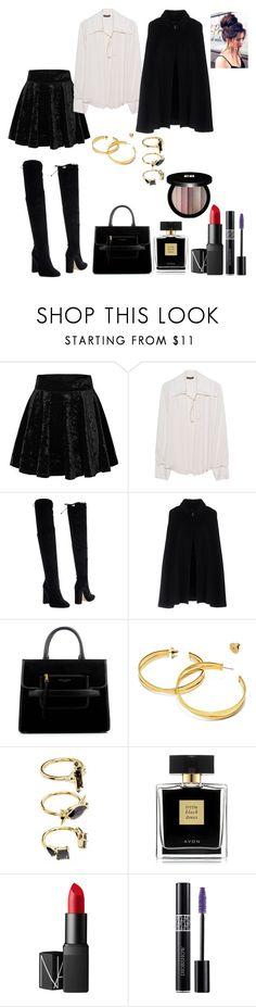 """Black and Gold"" by alexandra-ac on Polyvore featuring moda, Plein Sud, Bianca Di, Hanita, Marc Jacobs, Tory Burch, Noir Jewelry, Avon, NARS Cosmetics ve Christian Dior"