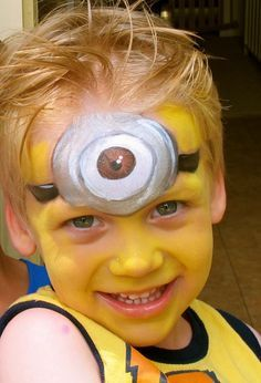 Minion Face Paint, Face Painting Minions, Painting Face, Minions Face Painting, Painting Inspiration, Ideas Minions, Facepaint Ideas, Painting Boys, ...