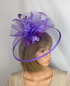 Lilac Purple Fascinator Mother of the Bride Wedding Ascot Races Ladies Day  Occasion eec41816c4d