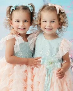 """Jaelynn & Angelina Bader on Instagram: """"I can't believe these twinnies are almost 3!!!!! 💕 #twinningtuesday @elenacollectionla @valeriesviewsphoto  Fun Fact: Identical twins have…"""" Identical Twins, Child Models, Beautiful Children, Family Photography, Fun Facts, Baby Kids, Believe, Flower Girl Dresses, Wedding Dresses"""