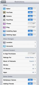 iPad settings to prevent students from altering the iPad--Good to know!