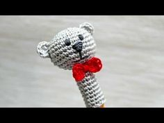 How To Make A Cute Crocheted Bear Pen Cap - DIY Crafts Tutorial - Guidecentral. Guidecentral is a fun and visual way to discover DIY ideas learn new skills, meet amazing people who share your passions and even upload your own DIY guides. Diy And Crafts Sewing, Crafts To Sell, Diy Crafts, Crochet Bear, Crochet Dolls, Crochet Pouch, Crochet Gifts, Free Crochet, Pencil Toppers