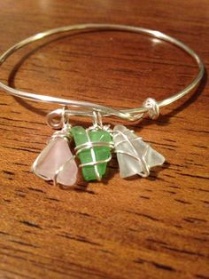 Sea Glass Bracelets on Etsy Luxe Designs by Lucy Sea Glass