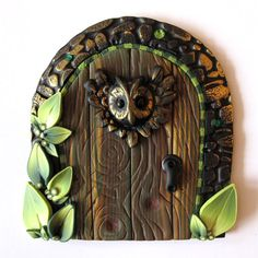 Woodsy Owl Fairy Door for the fairy folk...    Welcome to the neighborhood! Your local fairies will feel welcome to visit your home now. Only GOOD