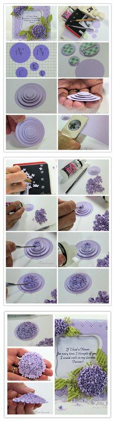 看似复杂的绣球花,其实不需要太多工具和材料,花一些时间和耐心,就可以做出漂亮的绣球花了...... - 堆糖 发现生活_收集美好_分享图片
