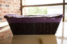 I took an every day basket and wove ribbons on the top to create a card basket. This is a side view Diy Card Box, Card Basket, Side View, Hamper, Ribbons, Diy Projects, Create, Cards, Top