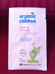 ORGANIC Children LAVENDER gel wash. Delicate Skin. Green People.