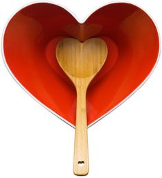 Pin for Later: 35 Heart-Shaped Kitchen Tools Every Foodie Needs For Valentine's Day Sagaform Stoneware Heart Bowl With Ladle Sagaform Stoneware Heart Bowl With Ladle ($50)