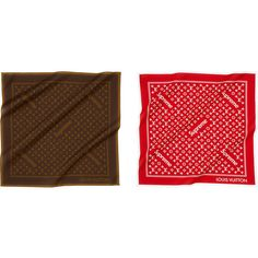 Supreme Louis Vuitton/Supreme Monogram Bandana ❤ liked on Polyvore featuring accessories, monogrammed handkerchief, louis vuitton and louis vuitton bandana