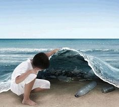 Creative social AD about water/ocean pollution. Creative Advertising, Advertising Design, Advertising Ideas, Earth Day, Planet Earth, Diy Highlighter, Ocean Pollution, Guerilla Marketing, Best Ads