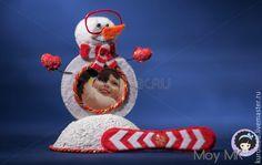 Купить Рамка для фото детская Снеговик - фоторамка ручной работы, рамка для фотографий