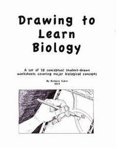 This set of 38 worksheets has been developed over 34 years of teaching high school Biology in the classroom and allows the biology student to draw, color and label his/her representation of a biological concept. Drawing has long been proven to be a unique way to gain understanding of detailed concepts in science.