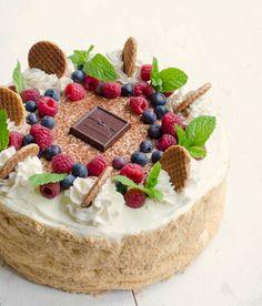 Kievskiy Cake- Meringue in between sponge cake.