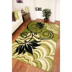 Black And Green Rugs   Green  Black Modern Rugs 1705 Montego