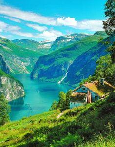 Fiorde de Geiranger na Noruega