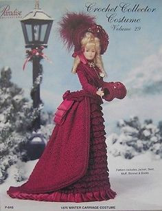 Paradise Crochet Collector Costume Fashion Doll Pattern Winter Carriage vol. 29