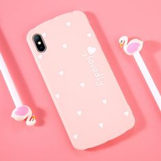 Moskado Love Heart Case for Iphone 8 7 6 Plus Phone Back Cover Letter Lovedly Cases for Iphone XS XR X Outfit Accessories From Touchy Style Girl Phone Cases, Diy Phone Case, Cute Phone Cases, Iphone Phone Cases, Iphone 8, Phone Covers, Cartoon Rose, Girly, Phone Mockup