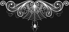 Spider Scroll Border - free download