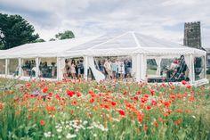 Marquee Meadow Wildflower Village Green Handfasting Wedding http://www.naomijanephotography.com/