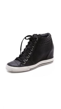 932c318a110f DKNY Cindy Perf Wedge Sneakers Fly Shoes