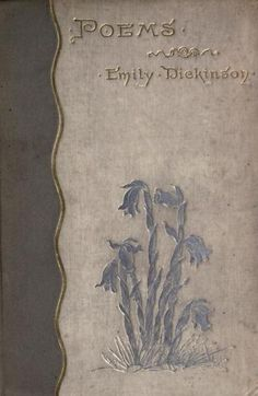 Poems (1890), Emily Dickinson. Cover of the first edition.