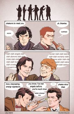 The angels one haha! I don't understand why John is ginger. If anyone should be ginger, it should be the Doctor