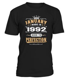 1992 - January Aged to Perfection  #gift #idea #shirt #image #family #myson #mentee #father #mother #grandfather