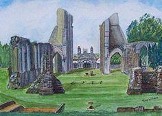 Glastonbury Painting - Glastonbury Abbey Somerset by Tony Williams