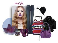 """""""Retro Lavender"""" by michelletheaflack ❤ liked on Polyvore featuring Junya Watanabe, Frame, Dsquared2, Paolo Shoes, rag & bone, Hipanema and flaredjeans"""