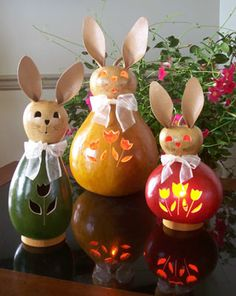 Pretty Meadowbrooke Gourd Easter bunnies