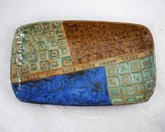 Love the quilted textures on this platter