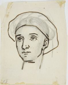 "Head of a Woman, study for ""Saul and the Witch of Endor"""