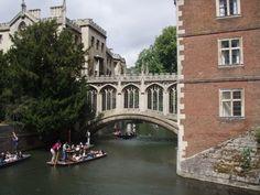 Punting under the Bridge of Sighs, Cambridge