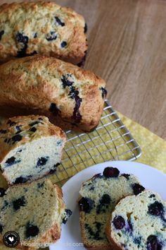 Blueberry Orange Bread - bursting with fresh blueberries, delicious orange flavor and less sugar! Easy to make - one bowl quick bread recipe! Pin to your Recipe Board!