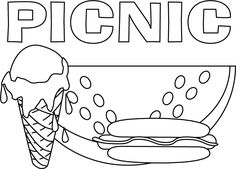 Ice Cream Coloring Pages 10 Preschool PagesSummer