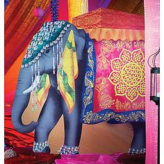 elephant cardboard cut-out for parties - cool!