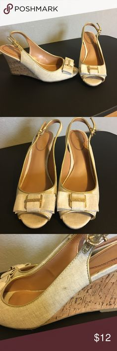 Tommy Hilfiger Wedges Size 8.5M Good condition. Has a few stains (pictured). Check out the rest of my closet and bundle for additional savings! 😊 Tommy Hilfiger Shoes Wedges