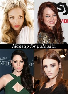 makeup for pale skin. porcelain and rocking it!