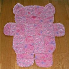 pink rag quilt for baby