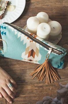 beautiful clutch zipper pouch