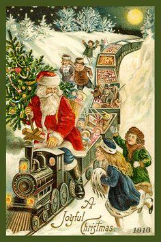 Olde America Antiques | Quilt Blocks | National Parks | Bozeman Montana : Santas - A Joyful Christmas 10a