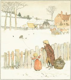 Sing a Song for Sixpence: the Fowler's snare. By Randolph Caldecott