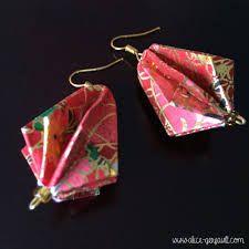 """Résultat de recherche d'images pour """"boucles d'oreille origami"""""""