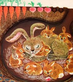 Classic Childrens Books & Illustrations on Pinterest | Vintage ... Vintage Children's Books, Vintage Art, Photo Images, Bunny Art, Woodland Creatures, Children's Book Illustration, Book Illustrations, Beltane, Bunt