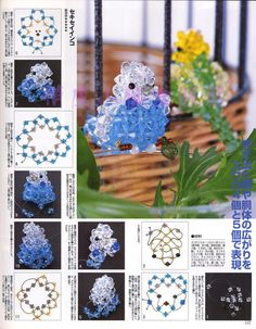 Beads News nº 6 - Chic massenet - Веб-альбомы Picasa Seed Bead Crafts, Beaded Crafts, Beaded Ornaments, Seed Bead Jewelry, Wire Crafts, Beading Projects, Beading Tutorials, Beaded Animals, Weaving Patterns