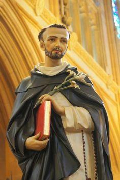 StDominic - opwest Saint Dominic, Spiritual Practices, Names Of Jesus, Captain America, Statues, Catholic, Spirituality, Merry, God
