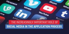 Increasingly Important Role of Social Media in the Application Process Gre Test, Test Prep, Law School Application, Role Of Social Media, School Admissions, Business School, How To Apply, Learning, Blog